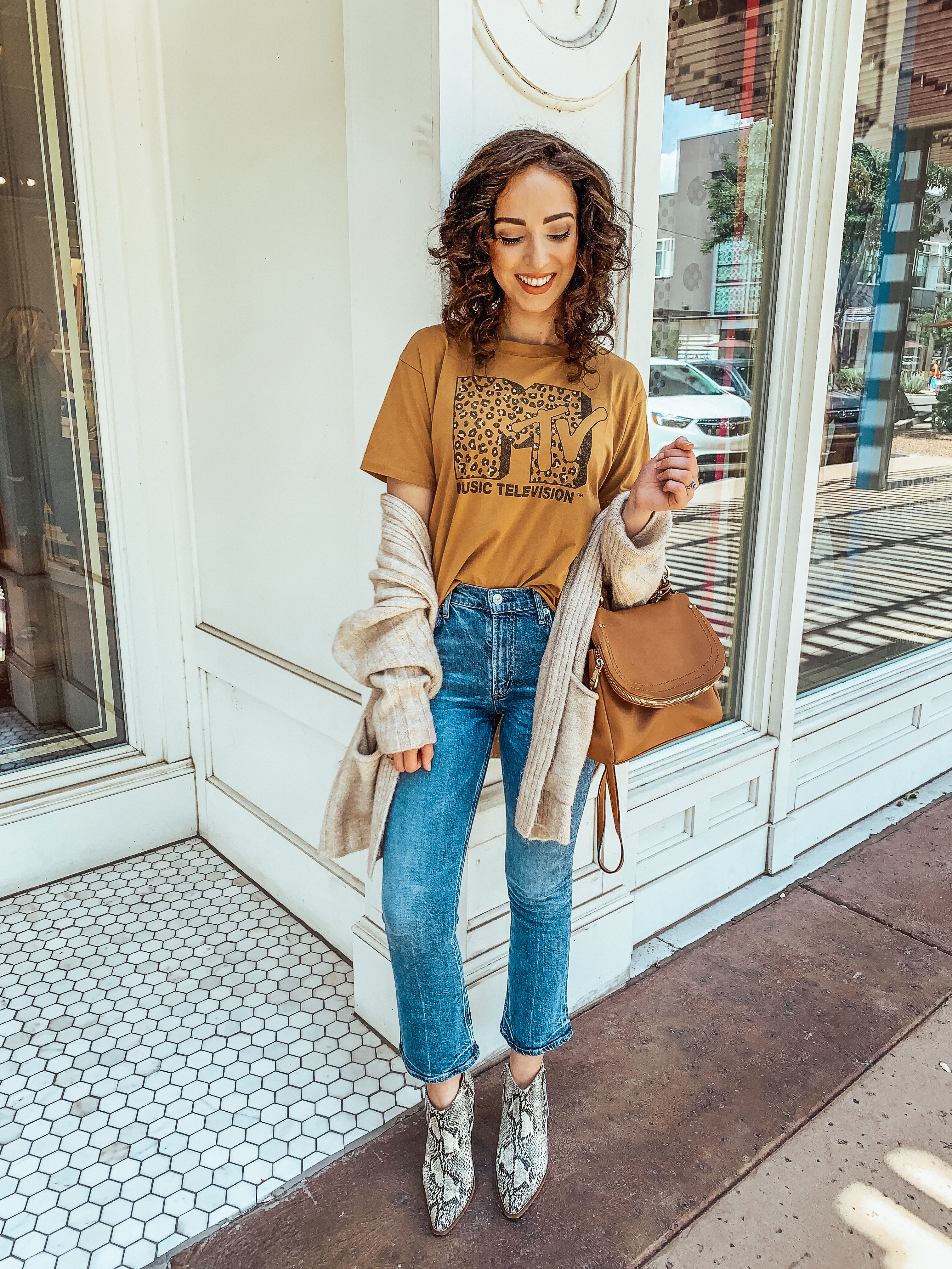 Crop Flare Denim Trend & MTV Leopard Tee